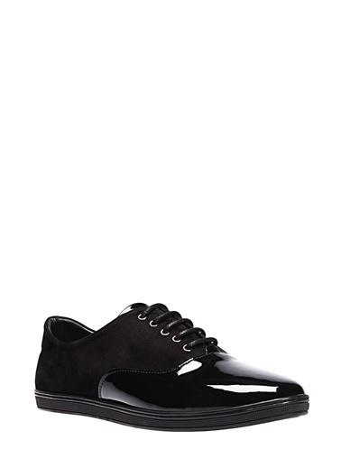 İnci %100 Deri Rugan Casual Ayakkabı Siyah